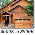 Tahoe Donner Homes $600,000 to $900,000