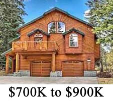 Tahoe Donner Homes $700,000 to $900,000
